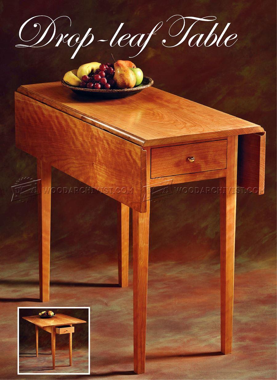Drop Leaf Table Plans  WoodArchivist