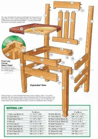 Dining Room Chair Plans  WoodArchivist