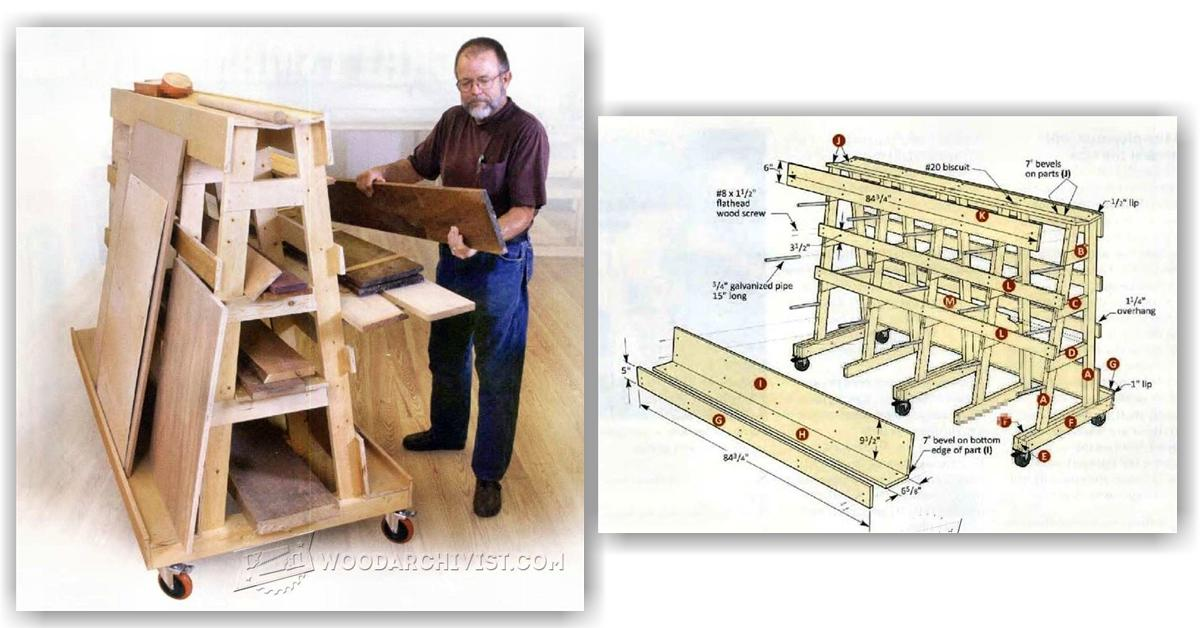 Lumber And Sheet Storage Rack Plans O Woodarchivist