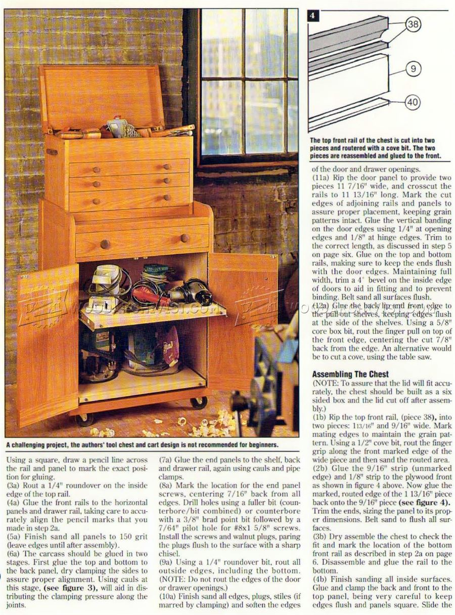 Rolling Tool Cabinet Plans O Woodarchivist