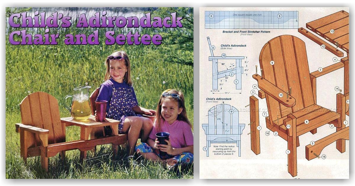 Childrens Adirondack Chair Plans O Woodarchivist
