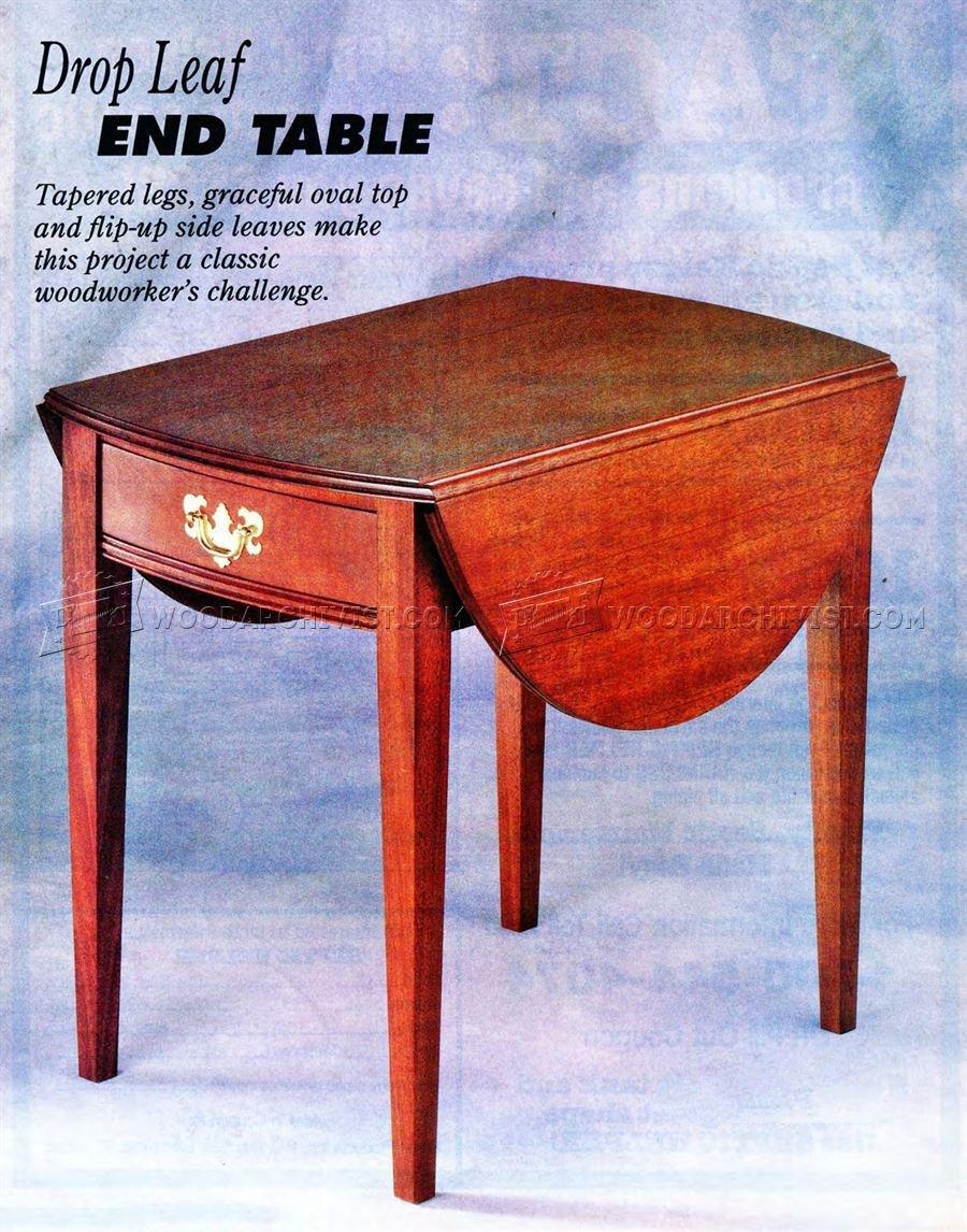Drop Leaf End Table Plans  WoodArchivist