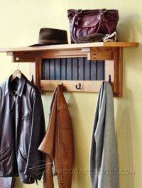 Wall Mounted Coat Rack Plans  WoodArchivist