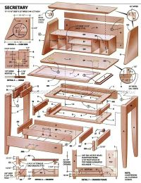 Secretary Desk Plans  WoodArchivist