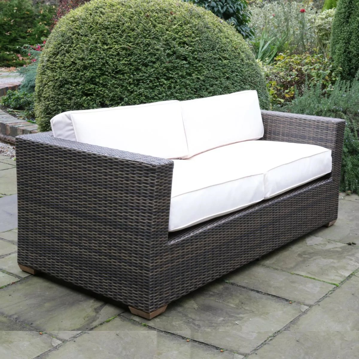 2 Seater Rattan Sofa Uk Rattan Auckland Large Sofa Suite Woodberry
