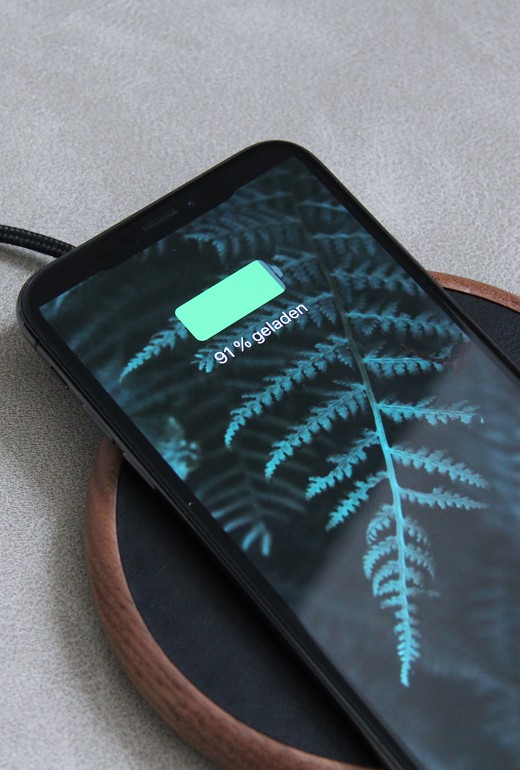 Handy Induktiv Laden Kabellose Ladestation Aus Holz Für Iphone Android I