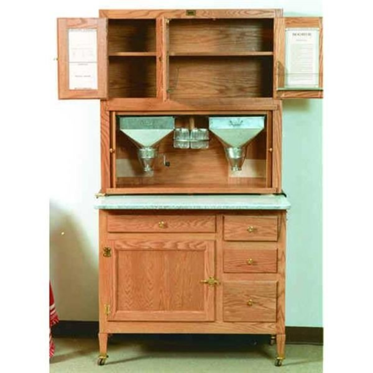 Hoosier Style Kitchen Cabinet American Furniture Design Woodworking Project Paper Plan