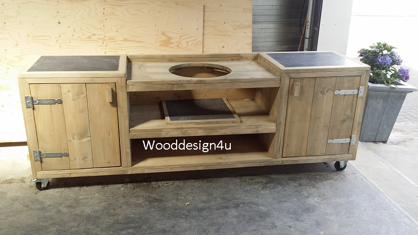 Douglas Keuken Buiten Keuken Green Egg , Weber - Wooddesign4u Is