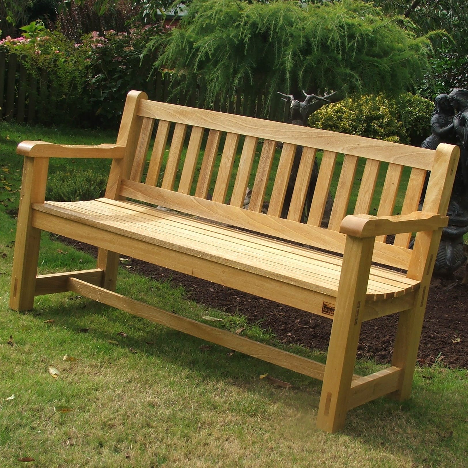 Wooden Bench Seats Perth 5ft Hardwood Garden Bench Handmade Bampton Devon 2 The