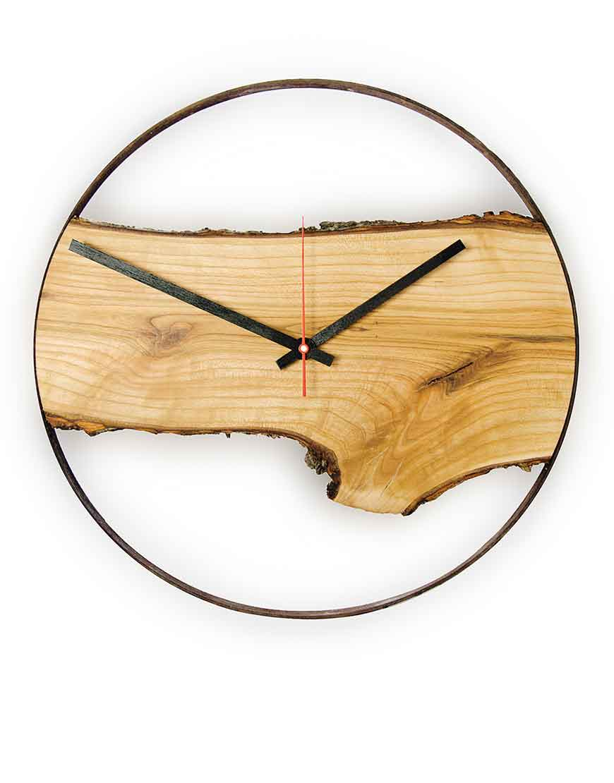 & Wall Clock Wooden Wall Clock Timeless Apple Tree Wood Huamet Collection