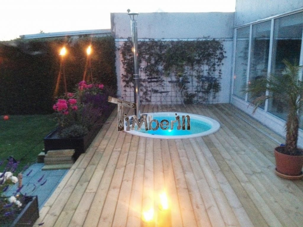 Jacuzzi Terrasse Wood Fired - Electrically Heater Hot Tub Sunken Built In