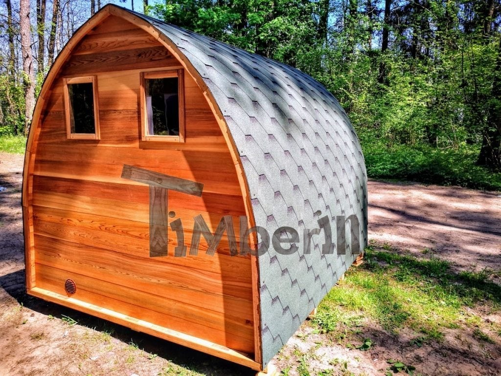 Terrasse Red Cedar Outdoor Garden Wooden Sauna Red Cedar With Electric Heater And