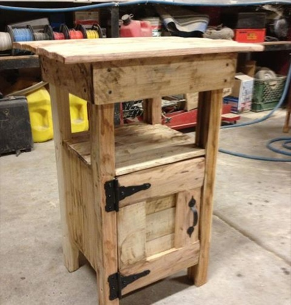 Pallet Nightstand - Do It Yourself Pallets   Wooden Pallet Furniture