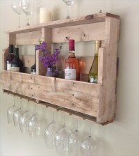 DIY Pallet Wine Rack Shelf