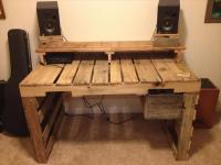 Build A Computer Desk from Pallets | Wooden Pallet Furniture