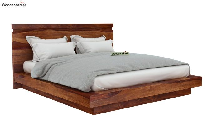 Buy Teak Wood Bed Online India Buy Florian Bed Without Storage (king Size, Teak Finish
