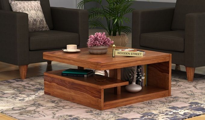 Teak Wood Dining Table Online Buy Liddle Tea Table (teak Finish) Online In India