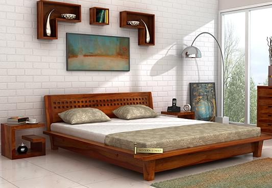 Chesterfield Sofa Online India Buy Carden Low Floor Platform Bed (king Size, Honey Finish