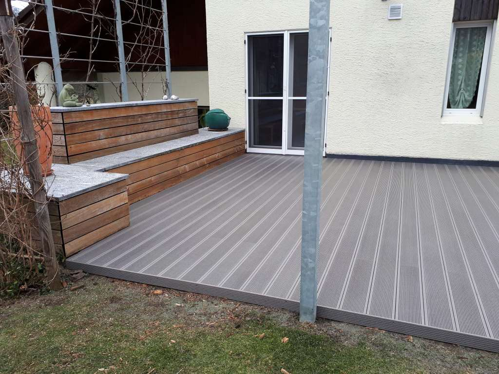 Wpc Terasse Wpc Terrasse In Eco Deck Classic Farbe Steingrau Wooden