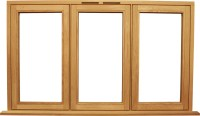 Bespoke wooden flush casement windows