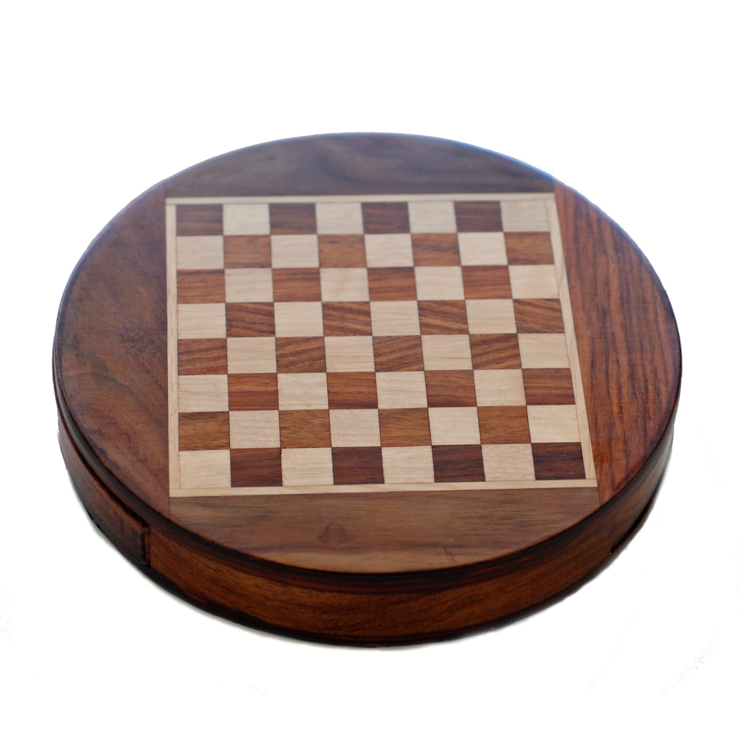 Round Chess Set Wood Magnetic Round Chess Set 7 Inch Wood Expressions