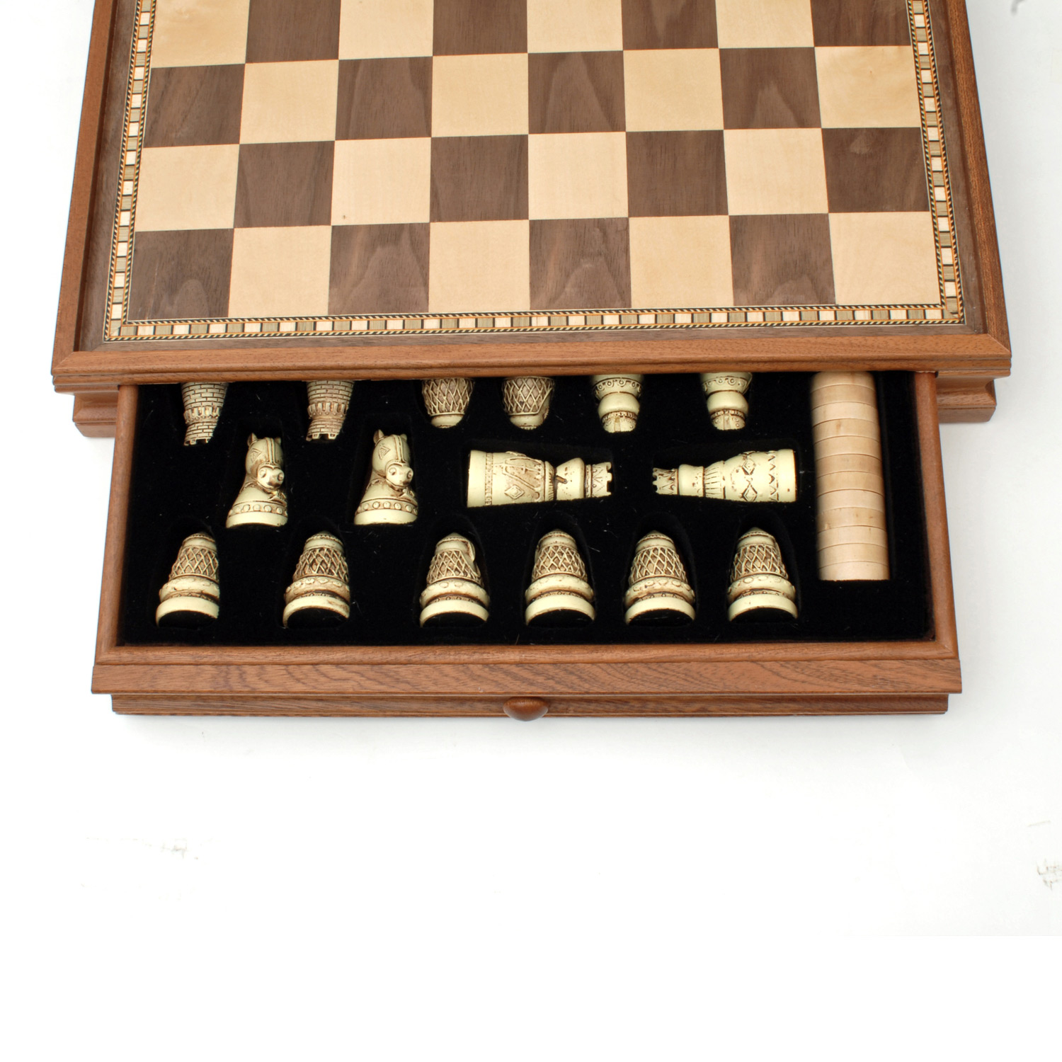Chess Board Sale Medieval Chess And Checkers Game Set Brown And Ivory
