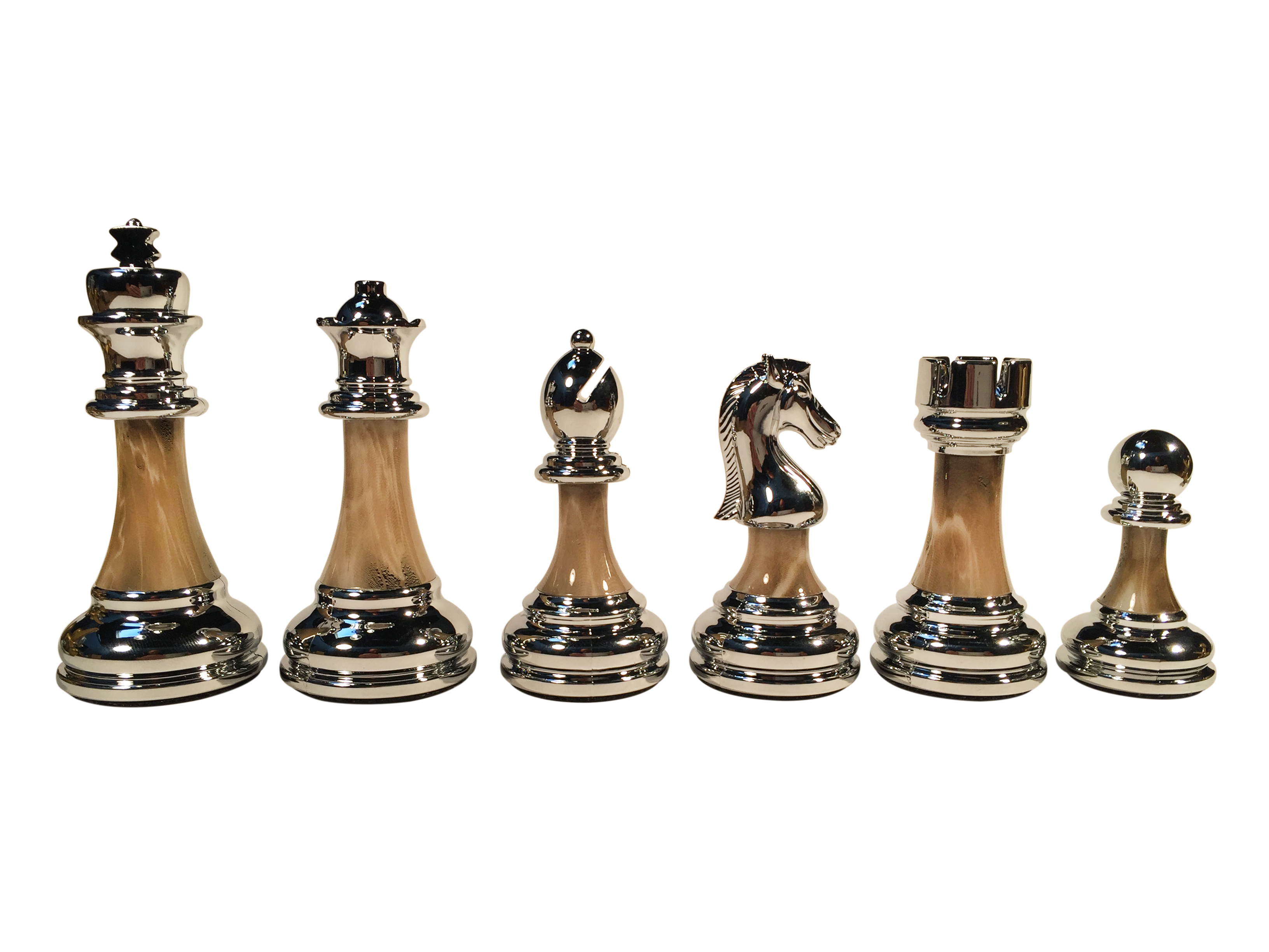 Steel Chess Pieces The Bobby Fischer Series Metal And Acrylic Chess Pieces 3