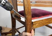 Scarf joint wood splice chair repair