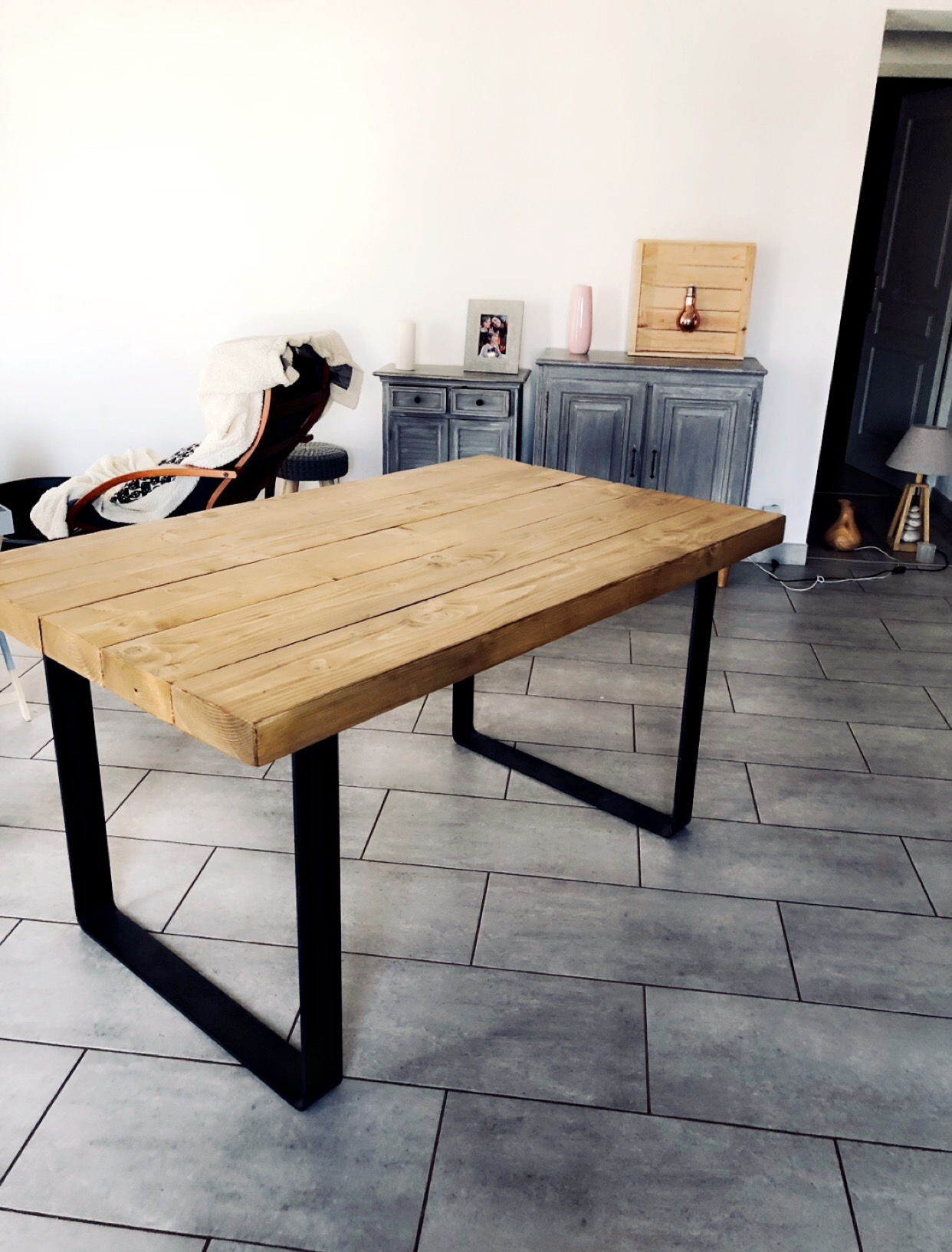 Table Exterieur Industriel Table Bois Industriel