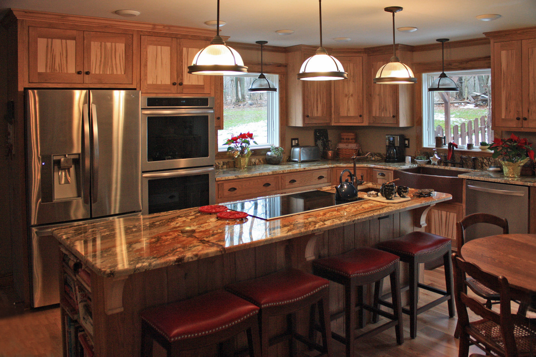 Kitchen Table Island Combination Custom Kitchen Cabinetry - Woodmansee Woodwrights Custom