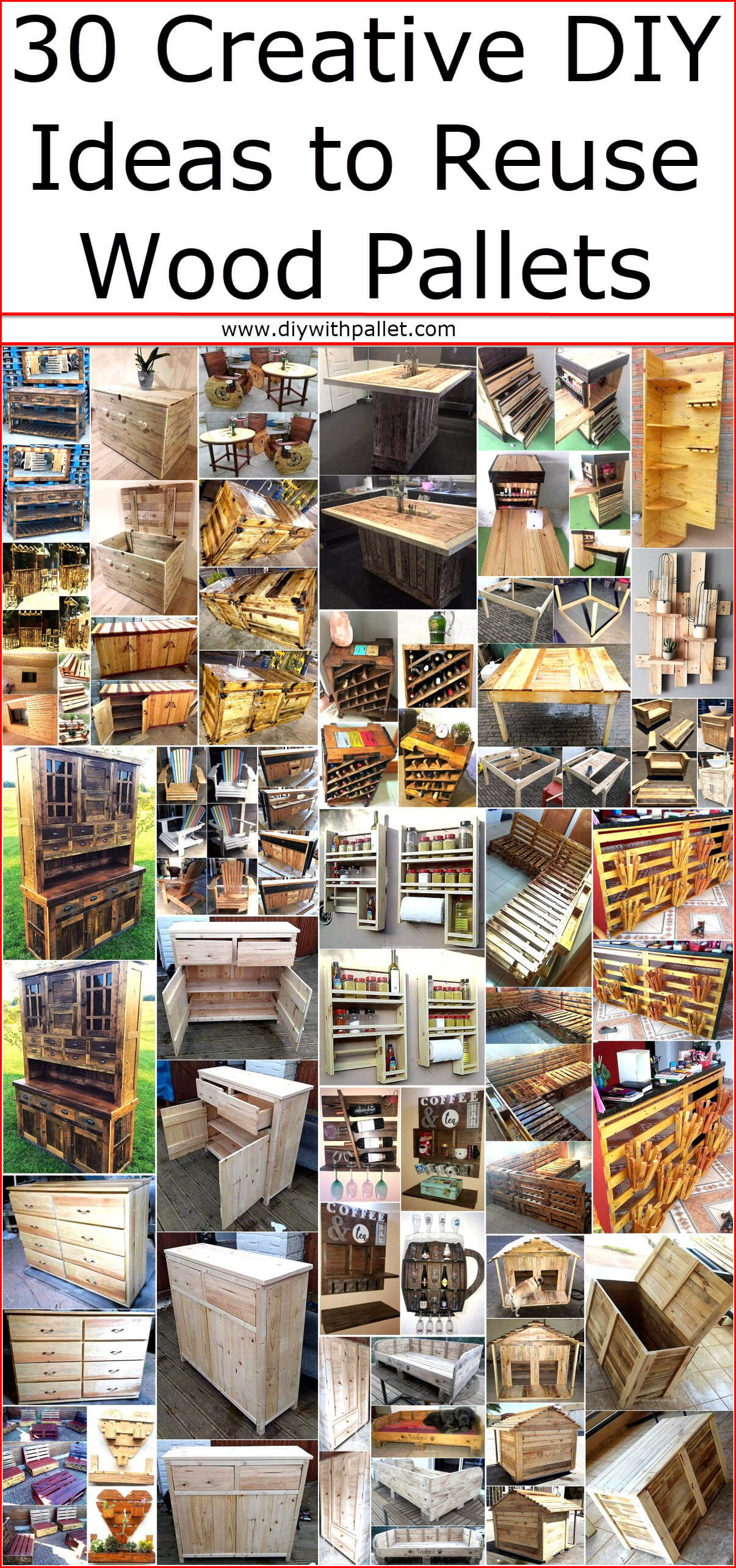 30 Creative Diy Ideas To Reuse Wood Pallets Wood Pallet Creations