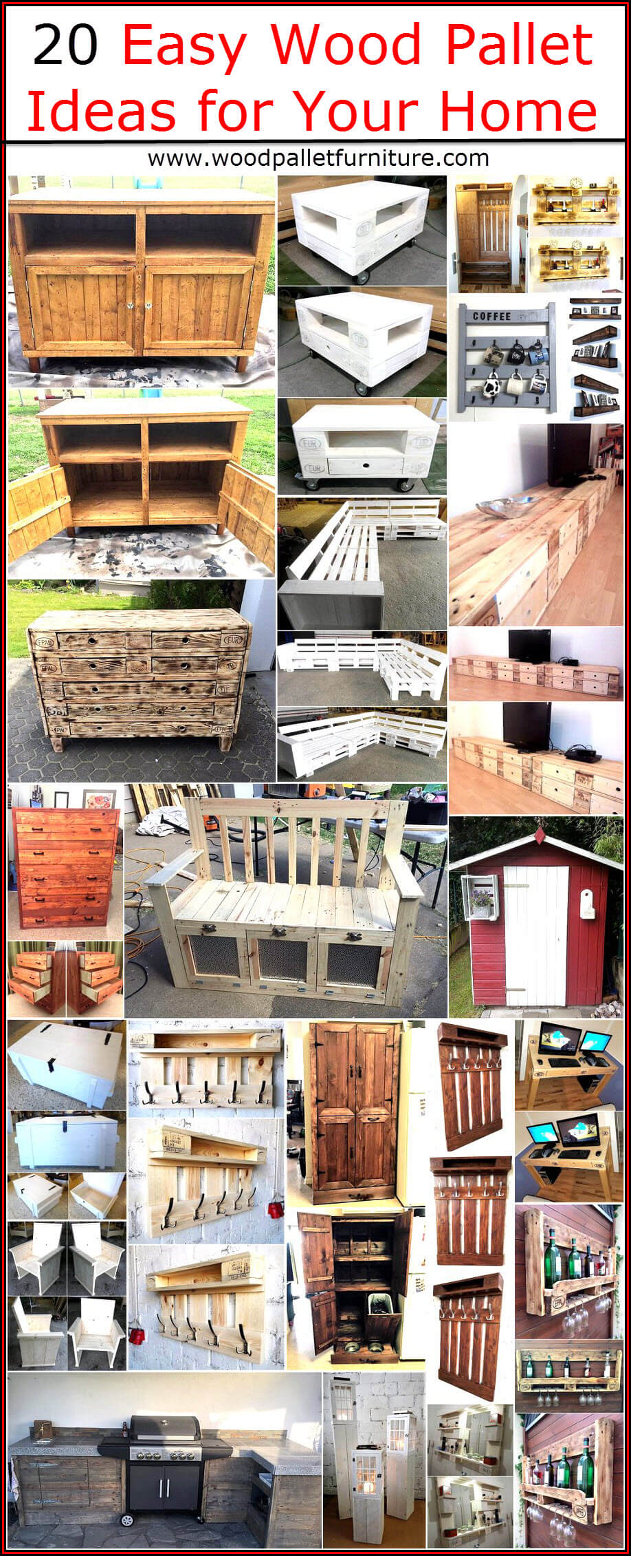 Pallets Knutselen 20 Easy Wood Pallet Ideas For Your Home Wood Pallet Furniture