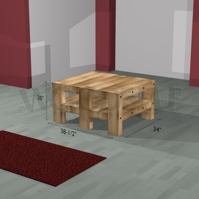 Plateau Table Exterieur Table Basse - Woodself - Le Site Des Plans De Meubles Gratuits