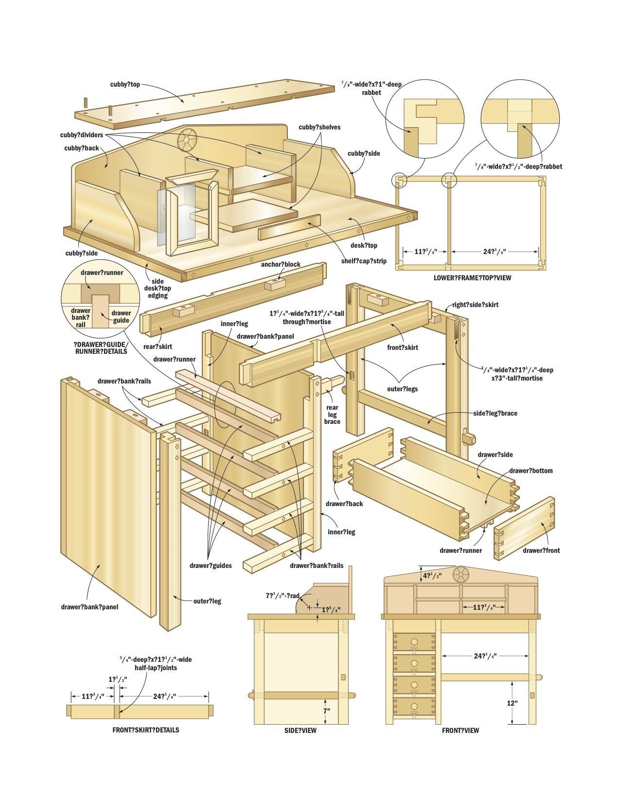 Houthok Bouwen Desk Woodworking Plans Woodshop Plans