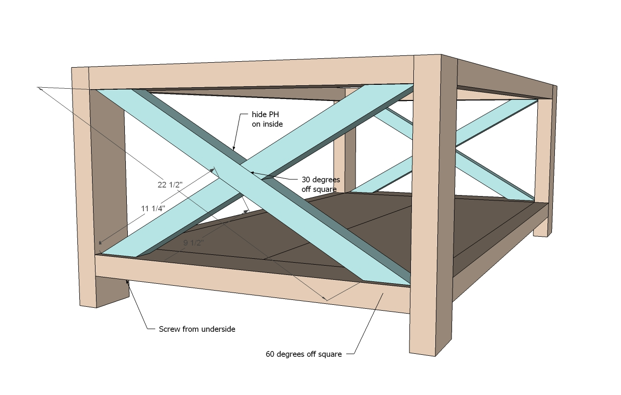 Square Coffee Table Plans Rustic Coffee Table Woodworking Plans Woodshop Plans