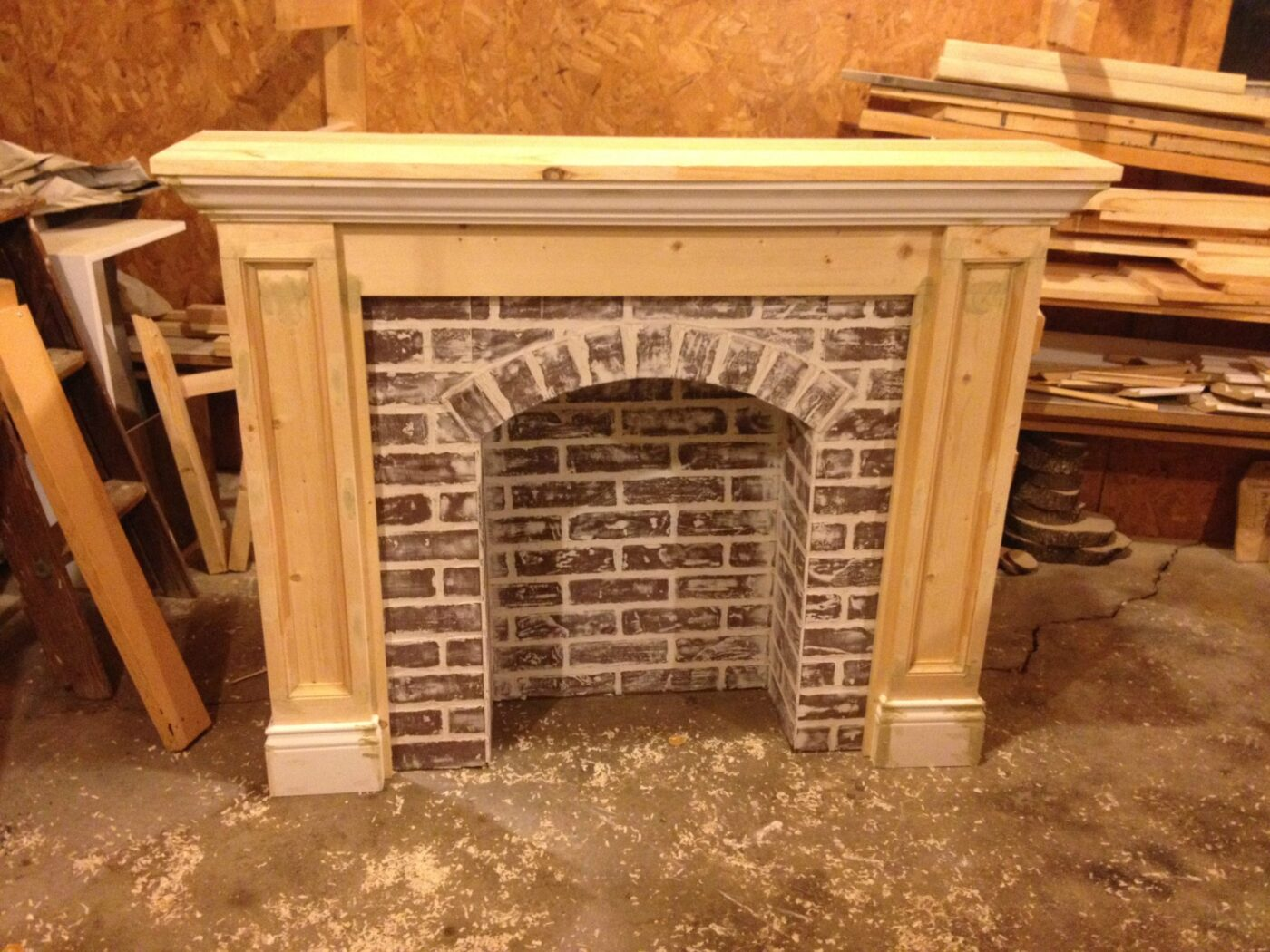 Fake Fireplaces For Decoration If You Re Going To Make It You Better Fake It Diy Fake Brick