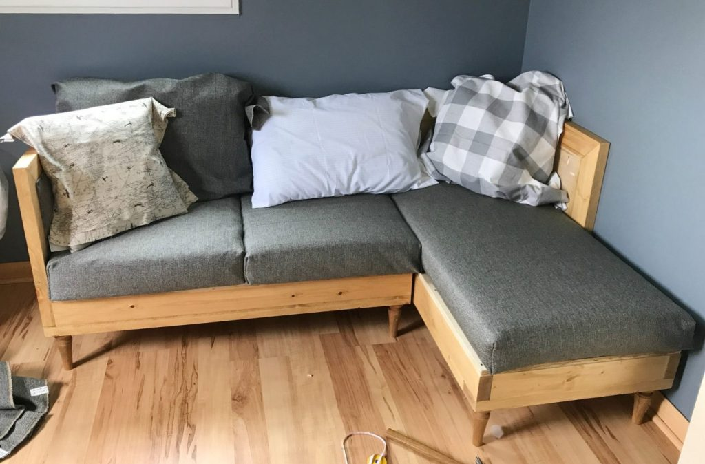 Build Your Own Diy Upholstered Couch - How To Build A Couch