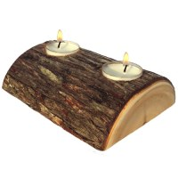 Woodstock Boutique Log Candle Holder