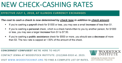 New Illinois Currency Exchange Check-cashing Rates – Woodstock Institute