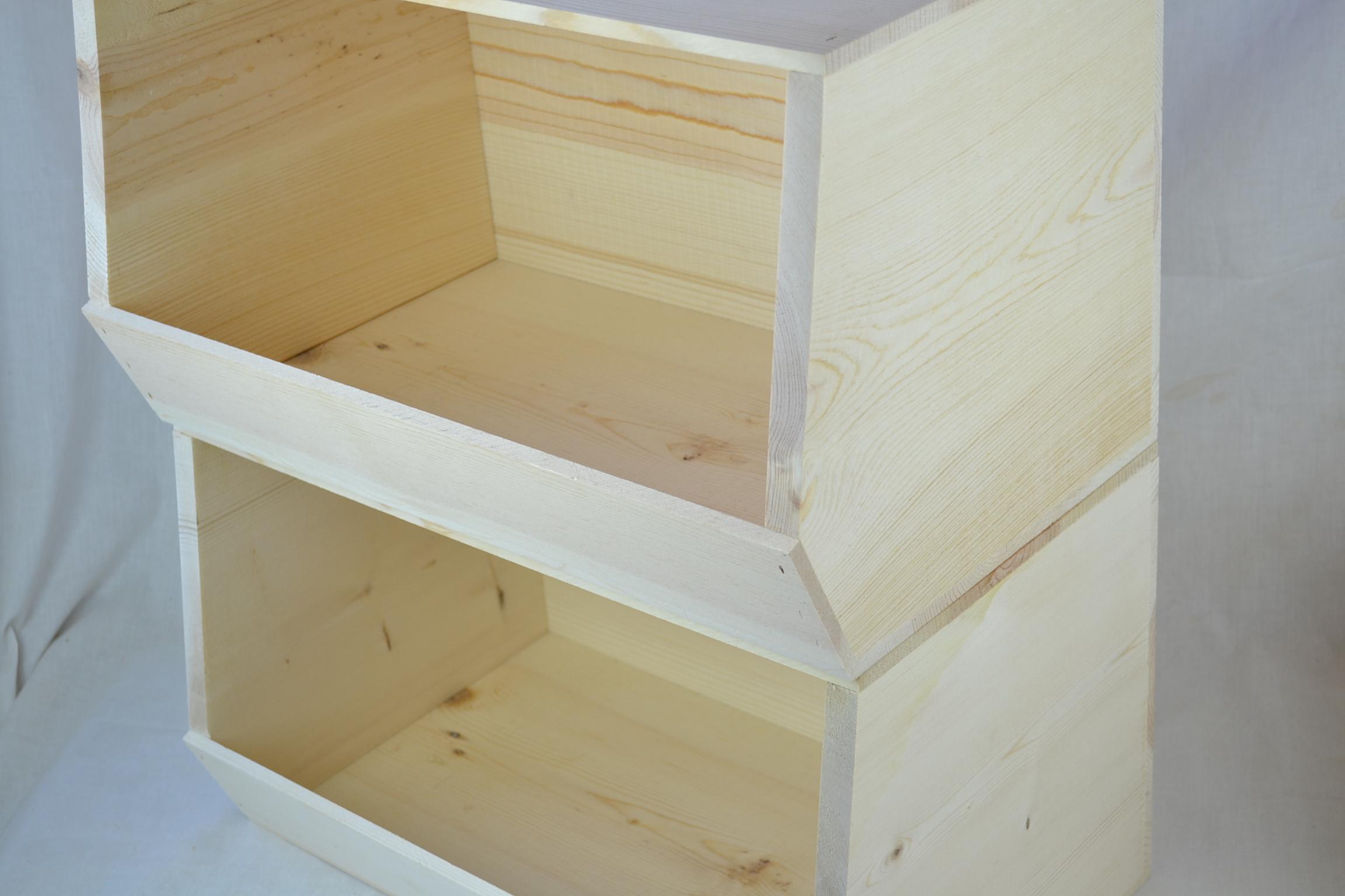 Wooden ... & Stackable Wooden Storage Bins - Listitdallas