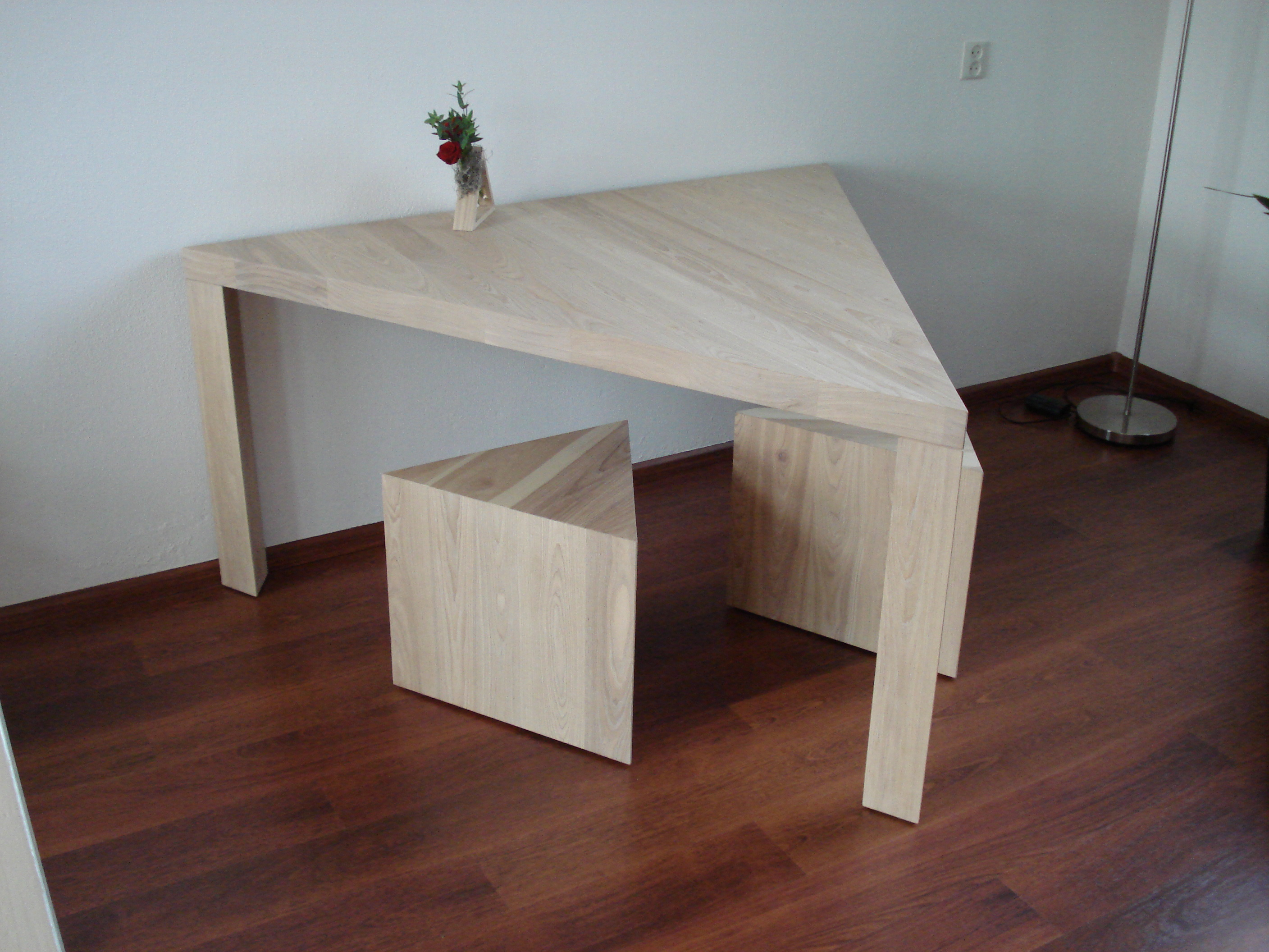 Wood Eettafel Eettafelset Driehoek | Woodtob