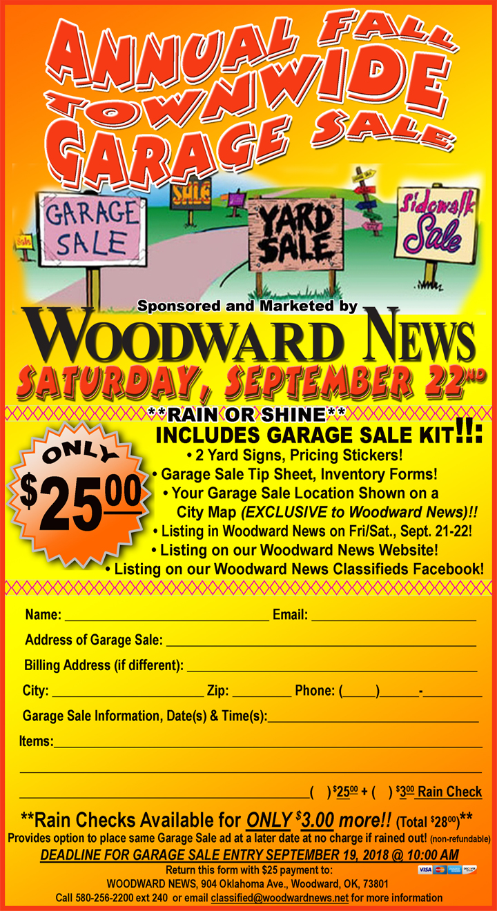 Garage Sale Website Townwide Garage Sale Woodward Chamber Of Commerce