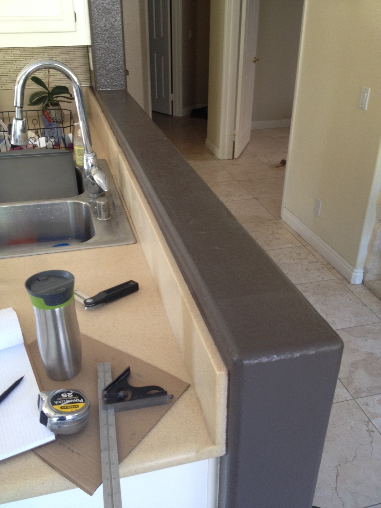 Installing A Countertop Installing Walnut Countertop On Knee Wall Woodweb S Cabinet And