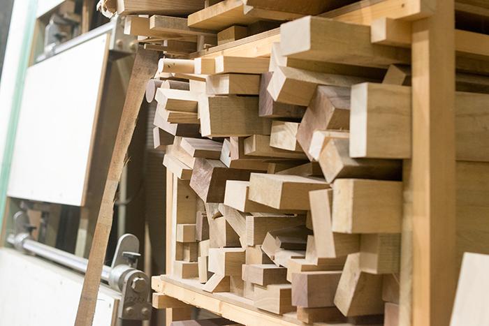 WOODWORKの家具製作ででる端材