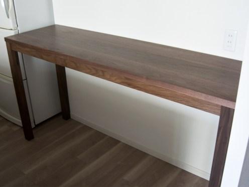 キッチンカウンターとして製作したスタンダードテーブル・タイプ2