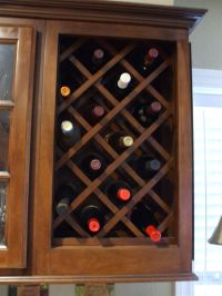 How To Build A Wine Rack In A Kitchen Cabinet - Home Design