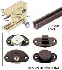 Woodworker.com: ROLLING DOOR TRACK AND HARDWARE SET