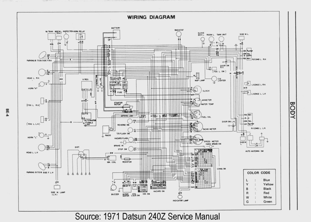 pdf wiring diagrams for 1973 datsun 240z