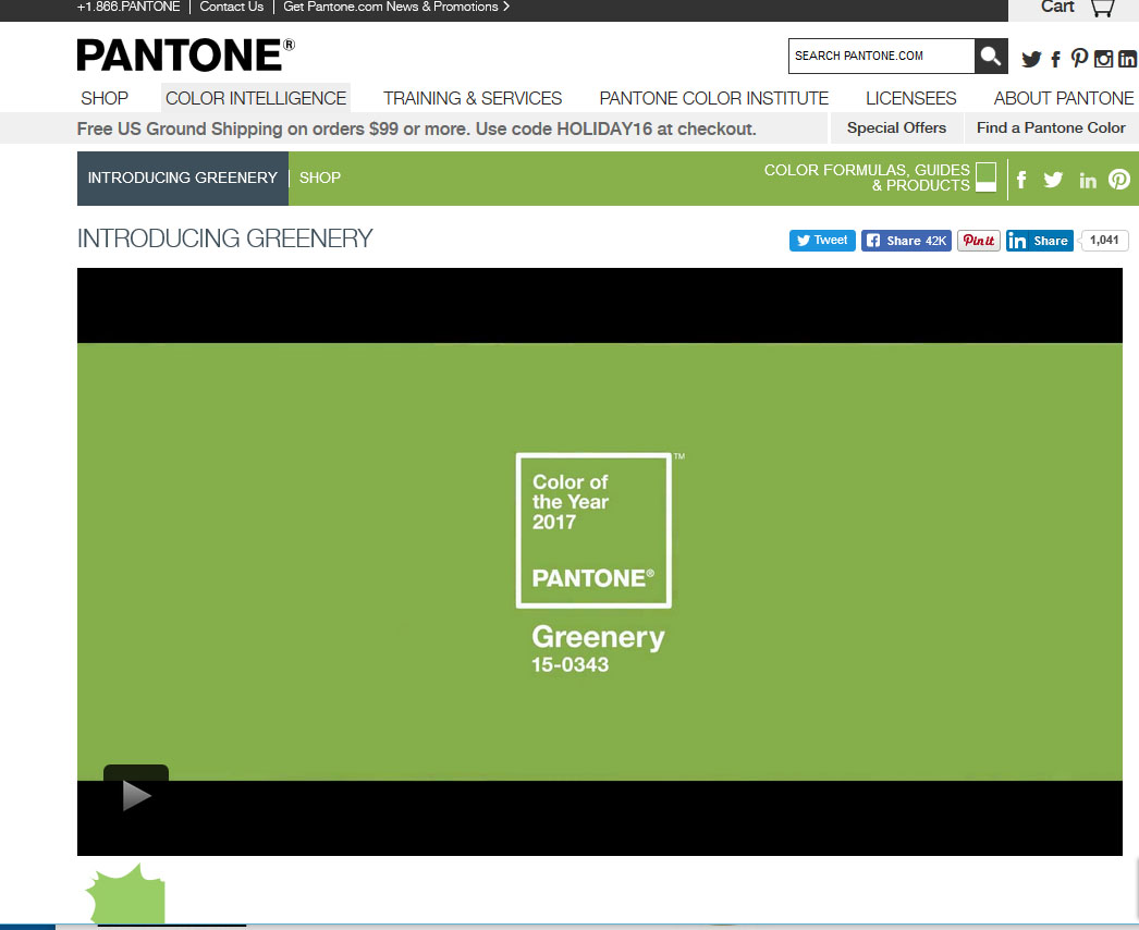 Pantone 2017 Pantone Chooses Greenery As 2017 Color Of The Year Woodworking