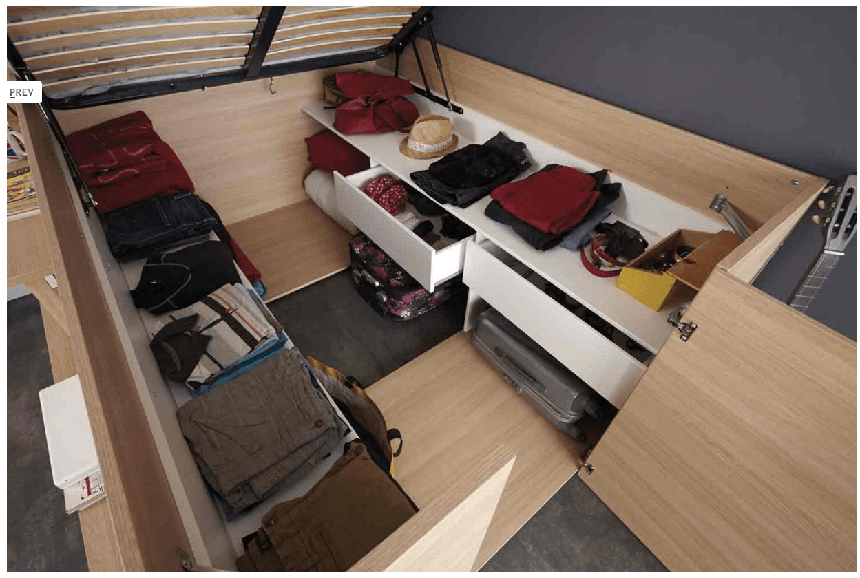 Lift Storage Bed Parisot 39space Up 39 Bed Lifts Up For Spacious Storage